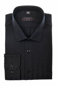 Koszula męska Slim - czarna w pasy