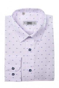 Koszula męska Slim - biała w saneczki