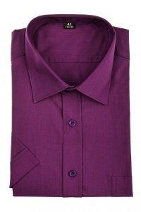 Koszula męska Slim - w kolorze ciemnego fioletu