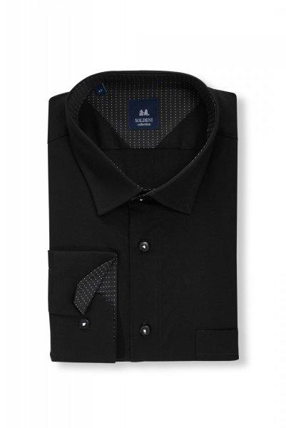 cada3f7176bd0a Koszula męska Slim - czarna - Długi rękaw