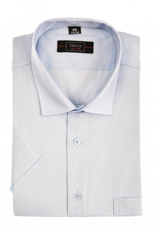 Koszula krótki rękaw Slim Line - jasnoniebieskim