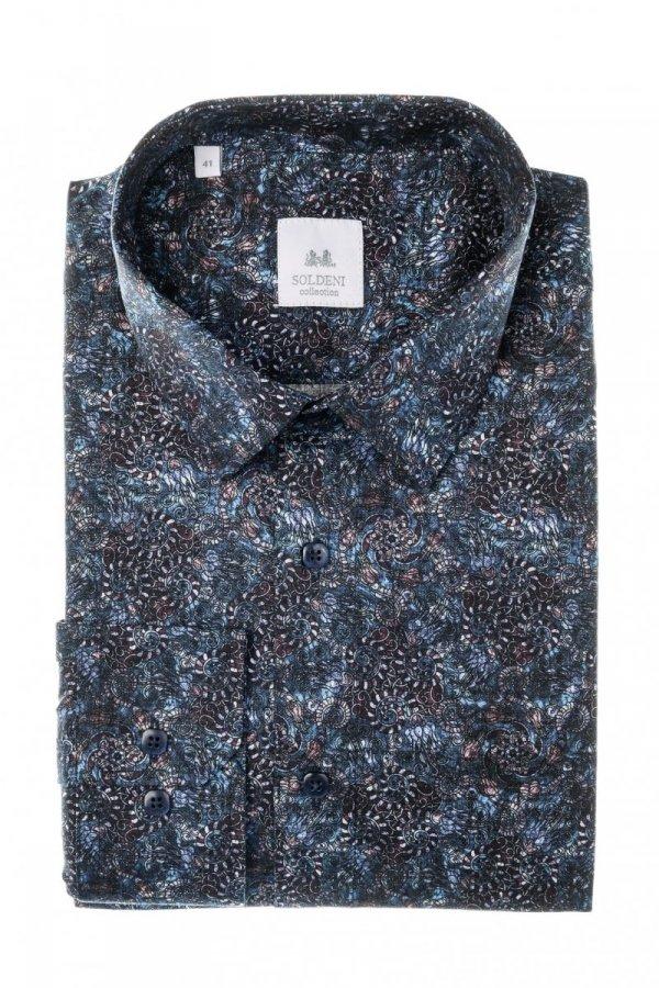 Koszula męska Slim - w kolorwy wzór