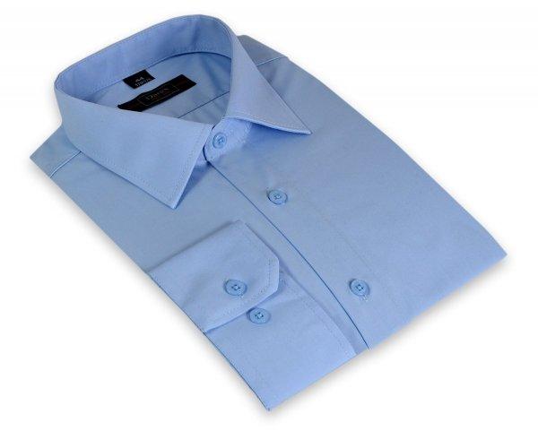 Koszula z długim rękawem Slim Line -  niebieska