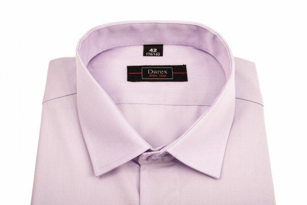 Koszula krótki rękaw Slim Line - wrzosowa