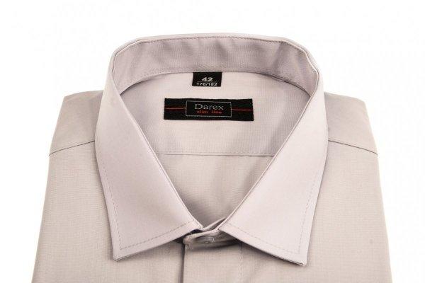Koszula krótki rękaw Slim Line- jasno-szara