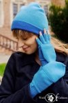 Czapka dwustronna niebieski + granatowy jasny