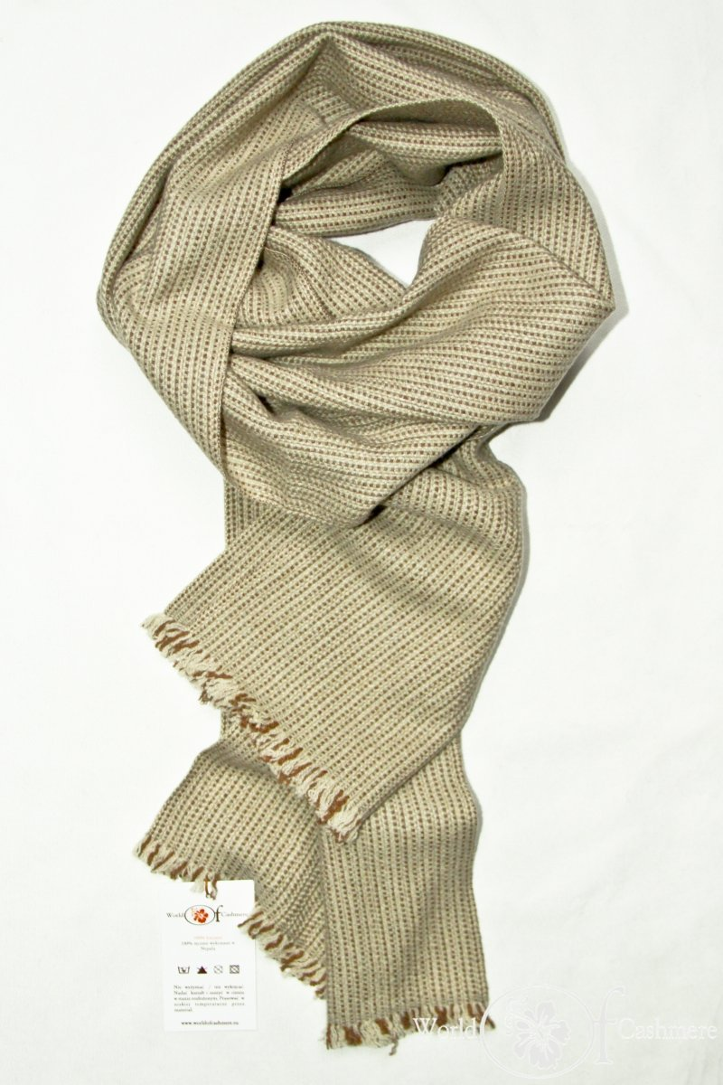 Szalik tweedowy kremowy