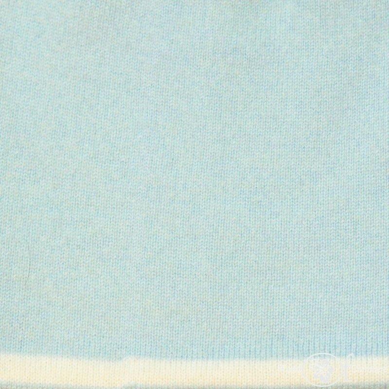 Czapka dwustronna błękit + złamana biel