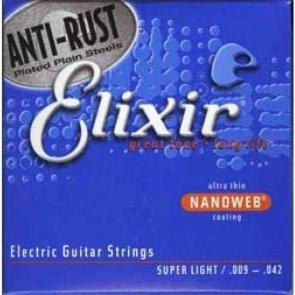 Elixir NanoWeb Super Light 9-42 Struny do gitary elektrycznej