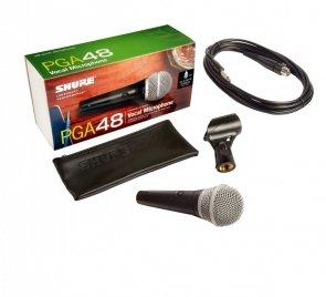 SHURE PGA48 Kardioidalny mikrofon dynamiczny do wokalu