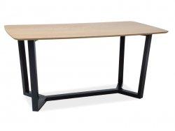 Stół DOSSIER dąb/czarny