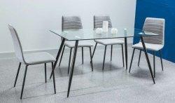 Stół NINO bezbarwny/czarny