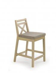 Krzesło barowe BORYS LOW dąb sonoma/inari 23