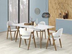 Stół rozkładany RUTEN biały/dąb miodowy