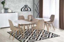 Stół rozkładany EDWARD dąb san remo/biały