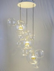 Lampa wisząca CAPRI DISC 3 - LED, szkło, metal