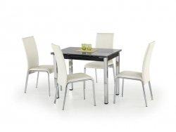 Stół rozkładany LOGAN czarny/chrom