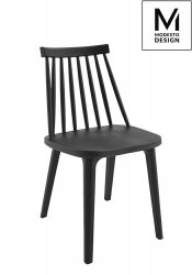 Krzesło RIBS BLACK czarne