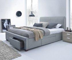 Łóżko tapicerowane MODENA 160 cm popielate