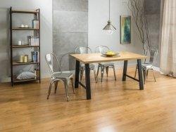 Stół ABRAMO 150x90 lity dąb/czarny