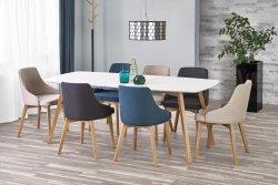 Stół rozkładany KAJETAN 150(200)x85 biały/dąb miodowy