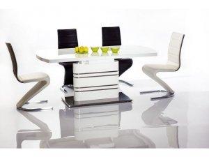 Stół szklany/rozkładany GUCCI 180(240)x90 biały