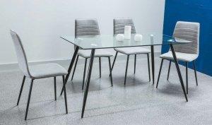 Stół szklany NINO 140x80 czarny