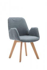 Fotel tapicerowany SAFARI popielaty