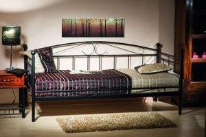 Łóżko metalowe Ankara 90x200 Czarne