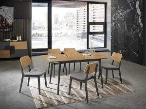Stół rozkładany VITRO II dąb/grafit