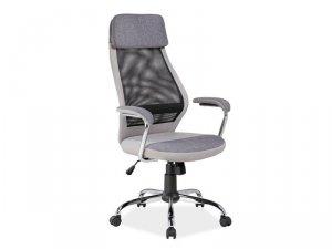 Fotel obrotowy tkanina/siatka Q336 szary