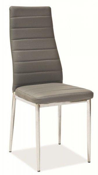 Krzesło metalowe H-261 szare