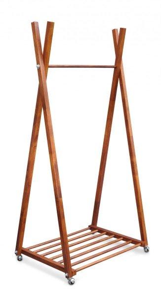 Wieszak stojący drewniany B-3 M kasztan
