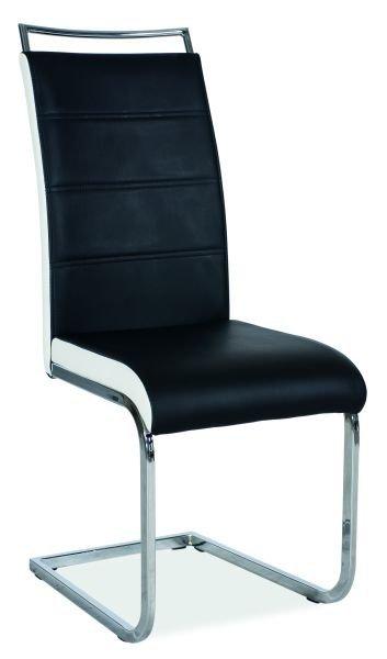 Krzesło H-441 czarno-białe
