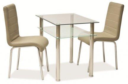 Stół szklany/chrom PIXEL 80x60