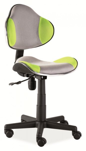 Fotel gabinetowy Q-G2 szaro-zielony