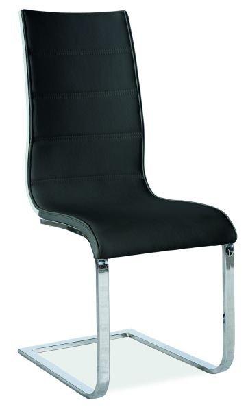 Krzesło H-668 czarny / biały