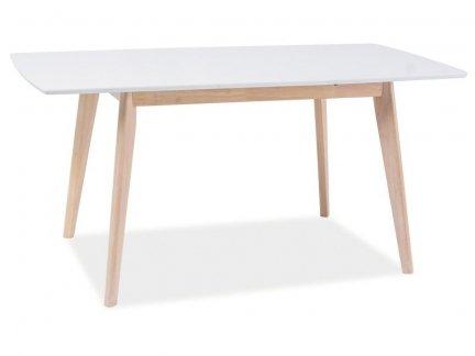 Stół COMBO II 120x80 dąb bielony/biały