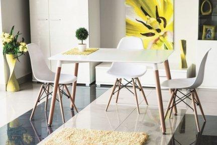 Stół NOLAN 120x80 biały/buk