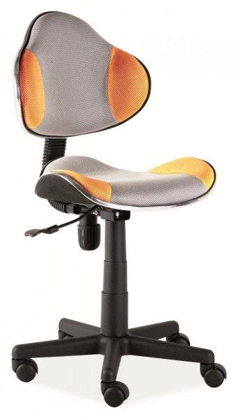Fotel gabinetowy Q-G2 szaro-pomarańczowy