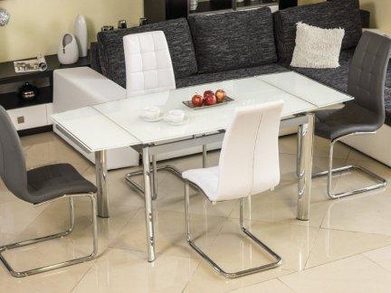 Stół szklany rozkładany GD-020 biały