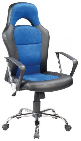 Fotel obrotowy Q-033 niebieski/czarny