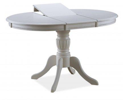 Stół drewniany rozkładany OLIVIA bianco biały