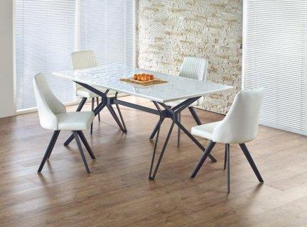 Stół PASCAL biało-czarny