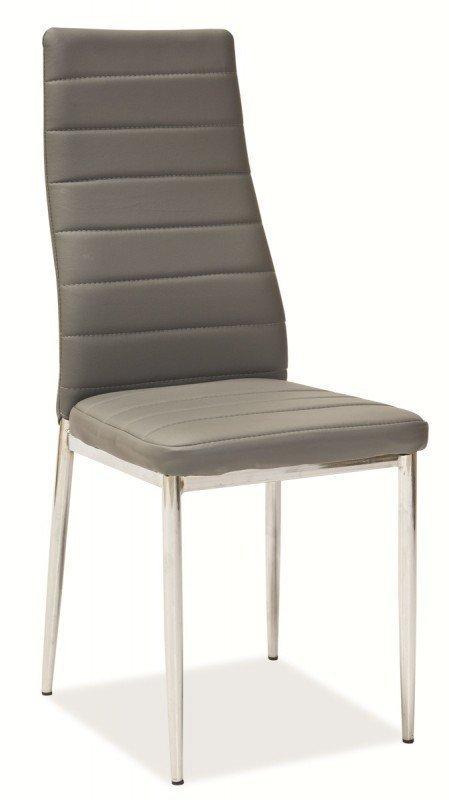 Krzesło H261 szare/chrom