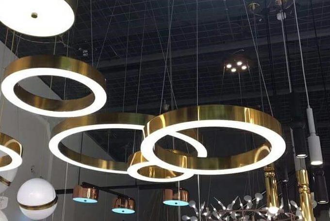 Lampa wisząca RING 80 złota