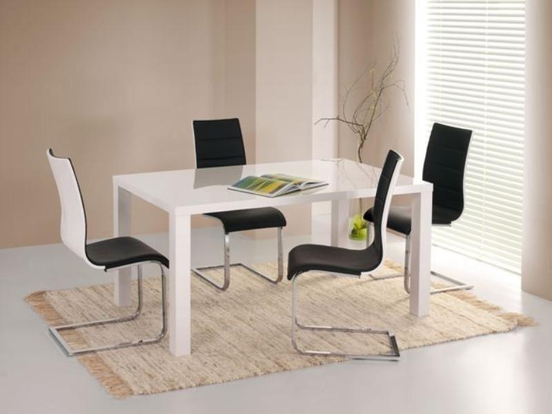 Krzesło K104 czarny/biały ekoskóra