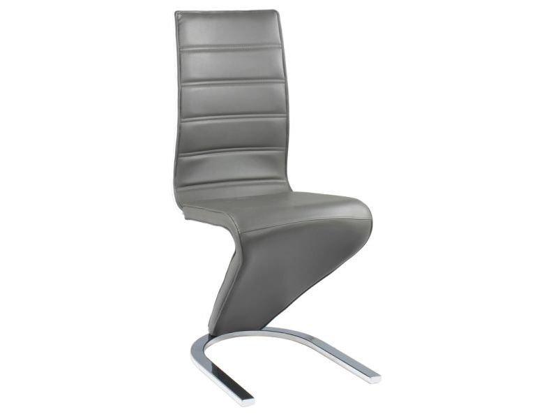 Krzesło H669 szare/biały tył