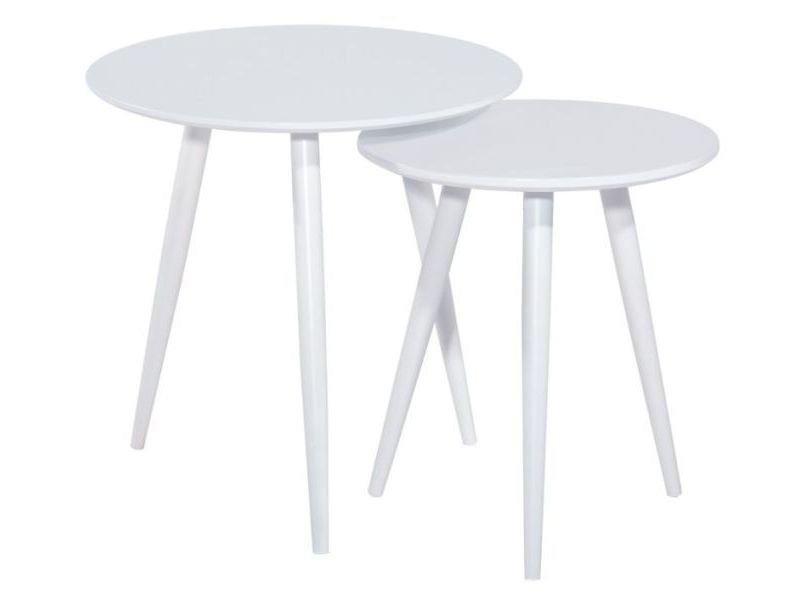 Zestaw stolików CLEO biały