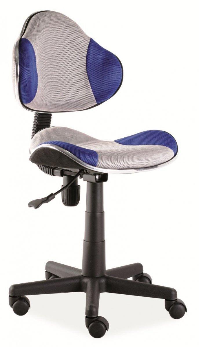 Fotel obrotowy Q-G2 niebieski/szary